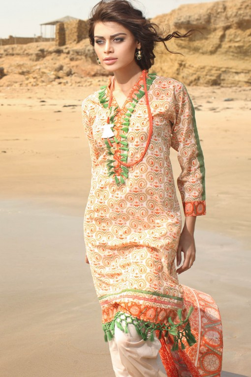Khaadi Unstitched Lawn Colletion 2014 for United States Women (2)