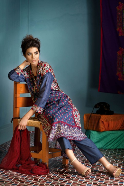 Khaadi Unstitched Lawn Colletion 2014 for United States Women (5)