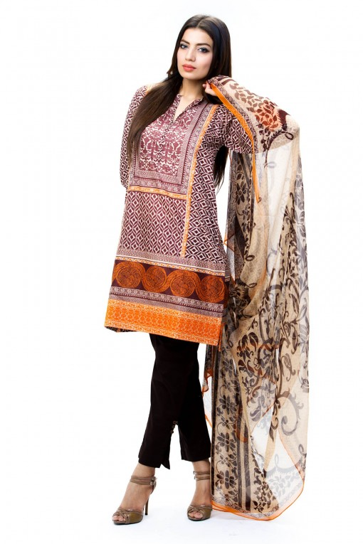 Khaadi Unstitched Lawn Colletion 2014 for United States Women (7)